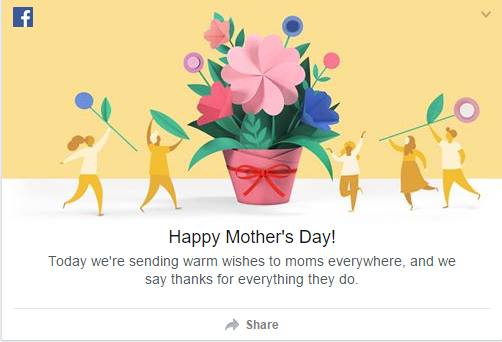 Facebook Mother's Day